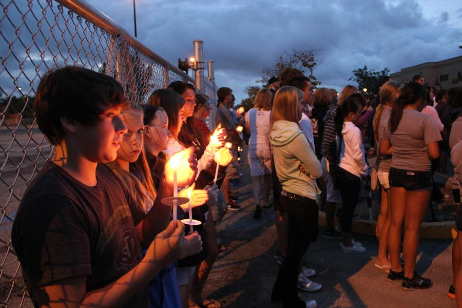 Students Hold a Candlelight Vigil for Levi Evans