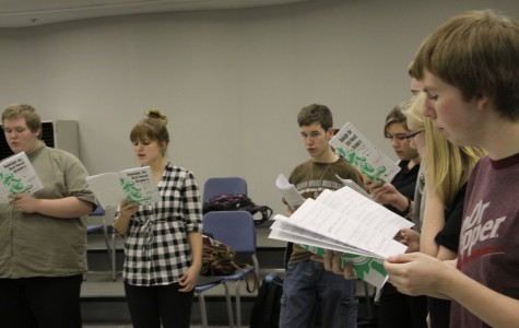 """The Counterpoints rehearse""""Rudolph the Red-Nosed Reindeer"""" at practice. The club, who just finished a Veteran's Day concert, has another concert on Sunday, December 9."""