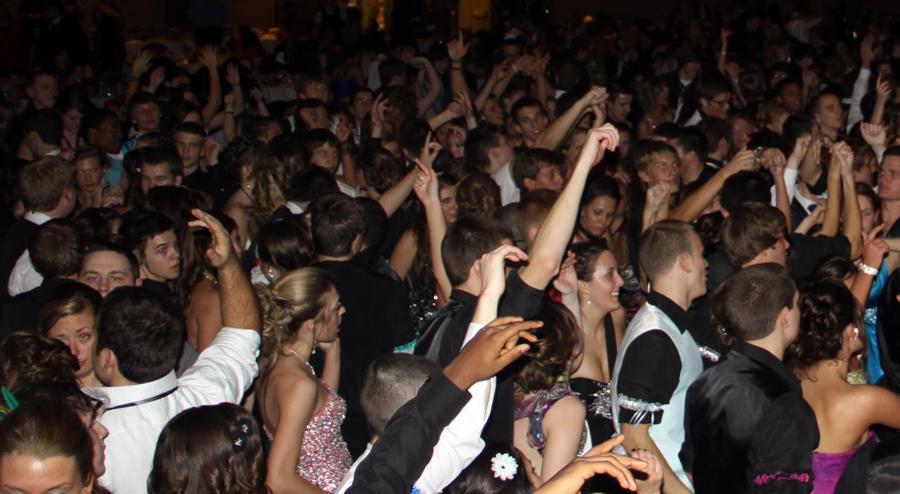 Students dance at the Halls of St. George during the 2012 winter formal.