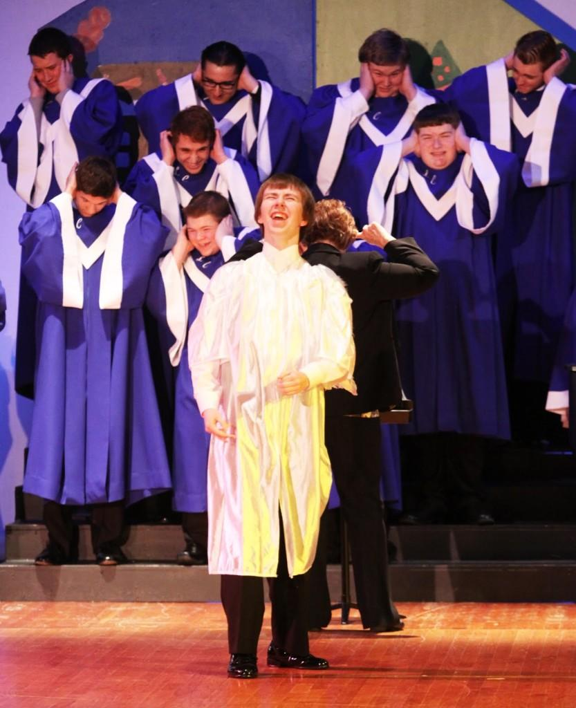 Kevin+Kuhn+%2812%29+sings+his+solo+for+%E2%80%9CMonotone+Angel%E2%80%9D+for+concert+choir.++Bells+and+Choir+performed+at+their+annual+holiday+concerts+on+Dec.+9.