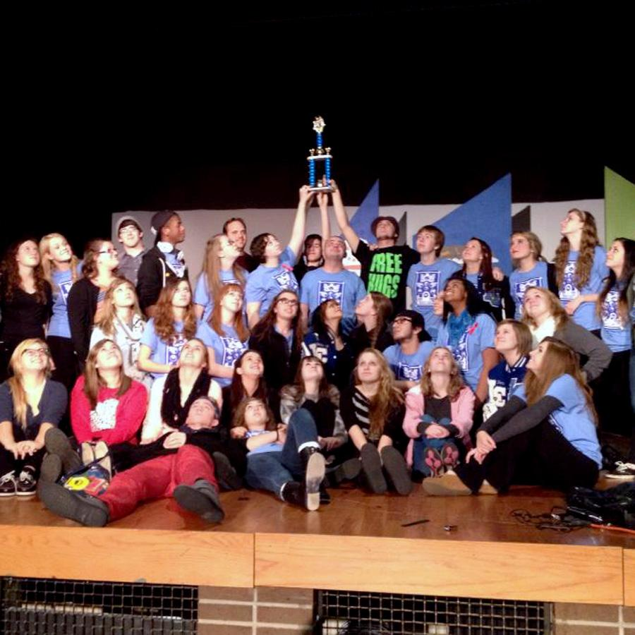 The Lake Central Theater Company wins their first regional competition.The regional performance of Harvey Girls is dedicated to Jonathan Guzman who passed away earlier last week.
