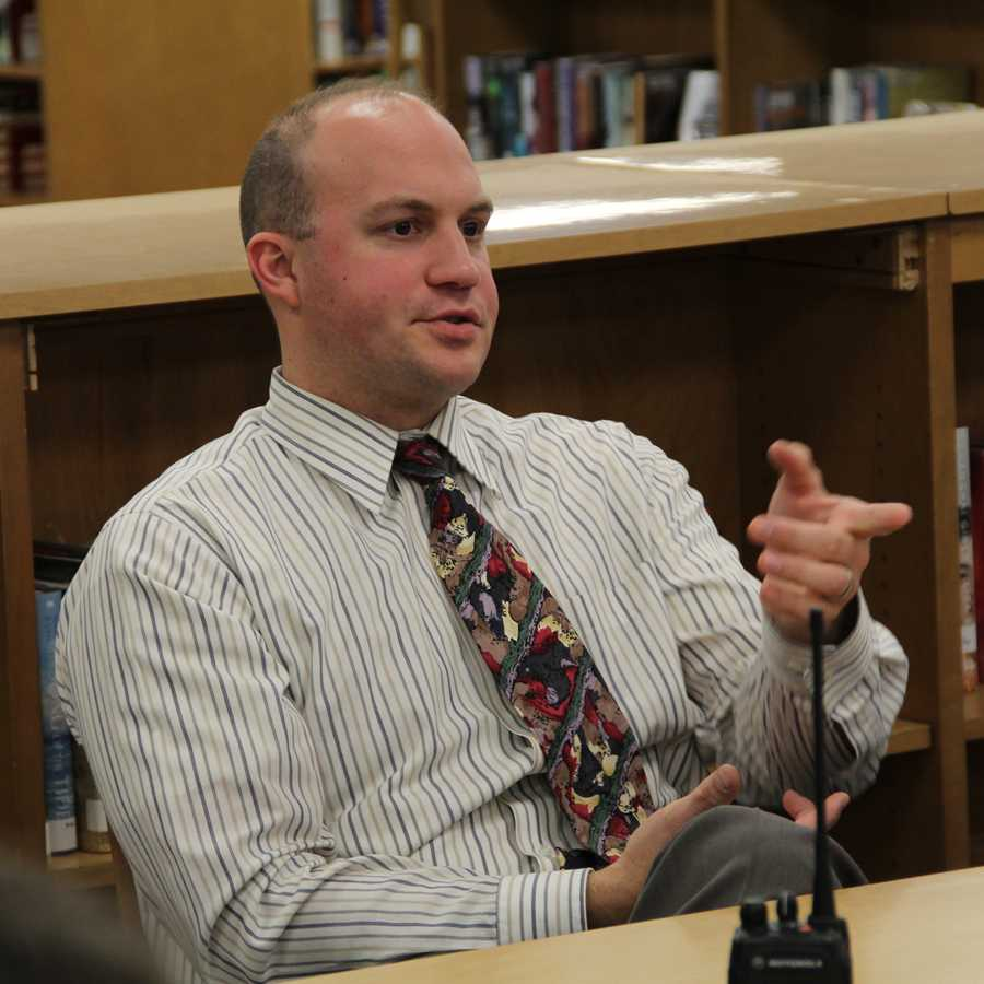 Principal Meets With Faculty, Students, Parents