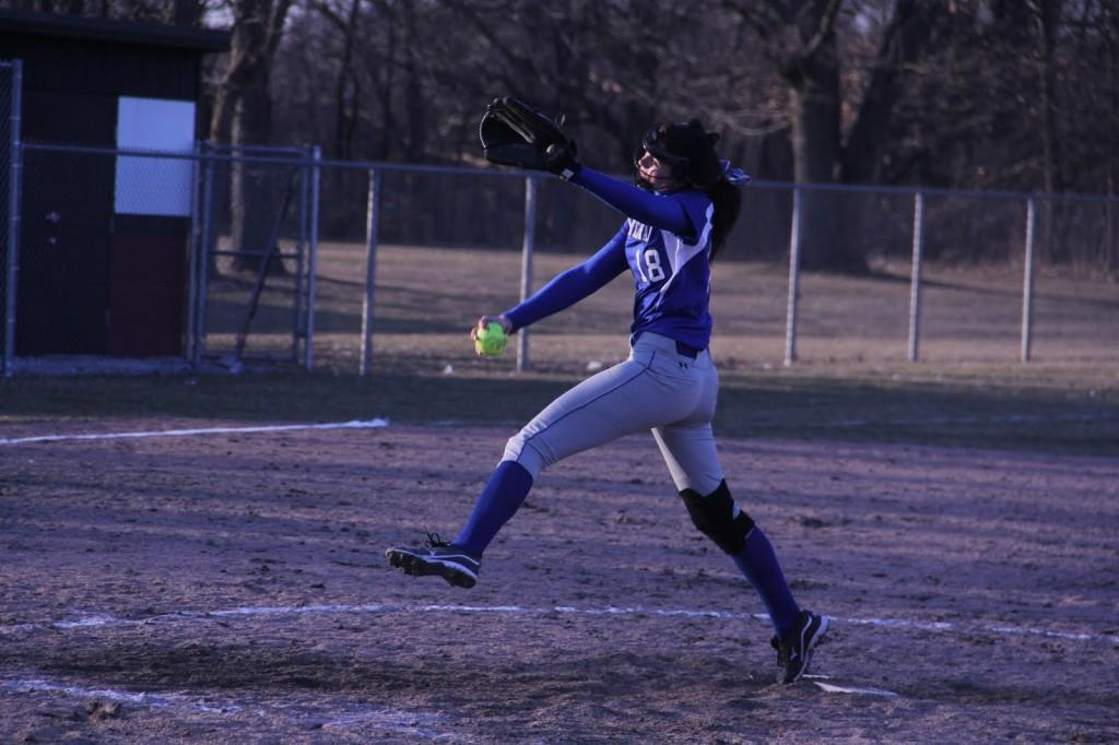 Annabel+Karberg+%2810%29+prepares+to+release+the+ball.+Karberg+came+in+as+a+relief+pitcher+during+the+Lady+Indians%E2%80%99+2-1+loss+against+Lowell.