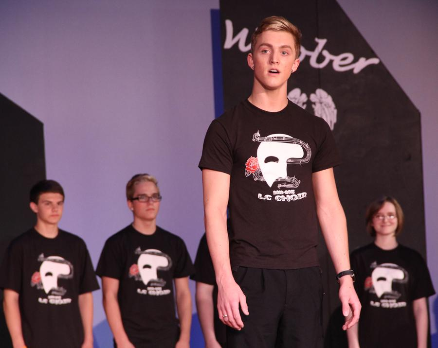 "Zachary Buntin (11) performs his solo during the Andrew Lloyd Webber medley that ended the concert. Webber was famous for writing music for shows like ""Cats,"" ""Phantom of the Opera"" and ""Joseph and the Amazing Technicolored Dreamcoat."