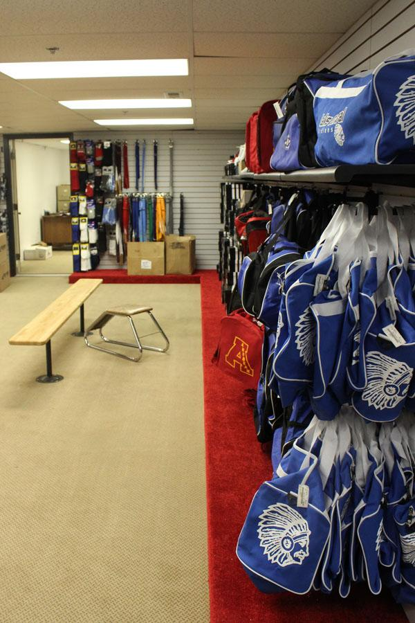 The new St. John Sports location, now called Mike's Sporting Goods, features more space for fitting purposes for customers.  The original location was unable to display a variety of equipment, while the new one will have more merchandise to choose from.