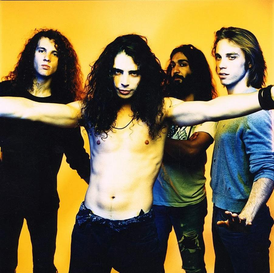 "Soundgarden (band) poses in a publicity session with Jason Everman for Sub Pop Records in November of 1989. Soundgarden's most popular album ever, ""Superunknown,"" was released in 1994. Photo taken by: Michael Lavine"