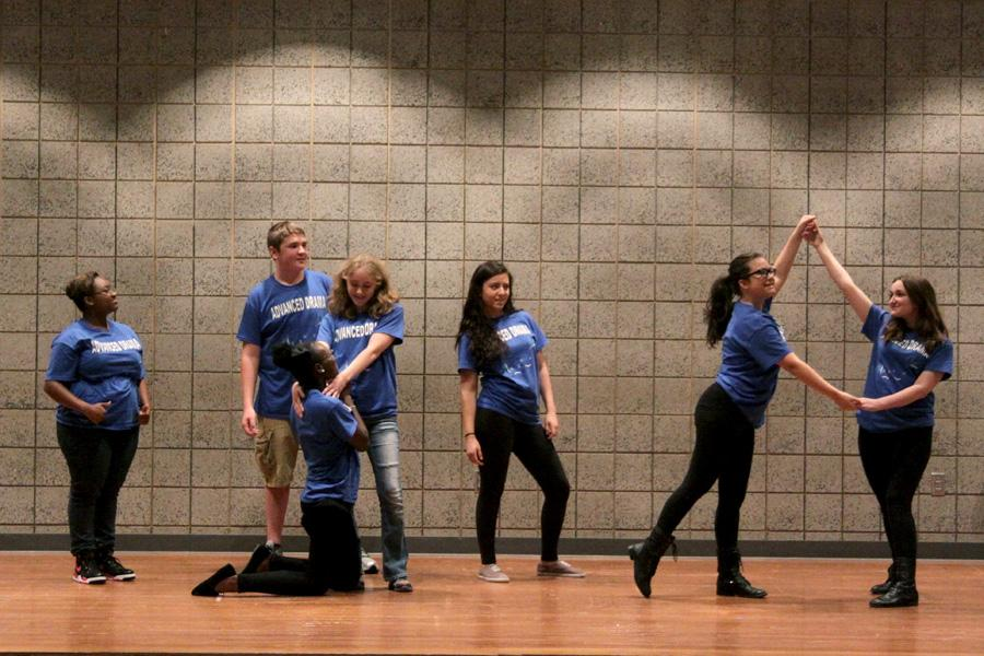 Advance theater class takes to the stage for their improv show