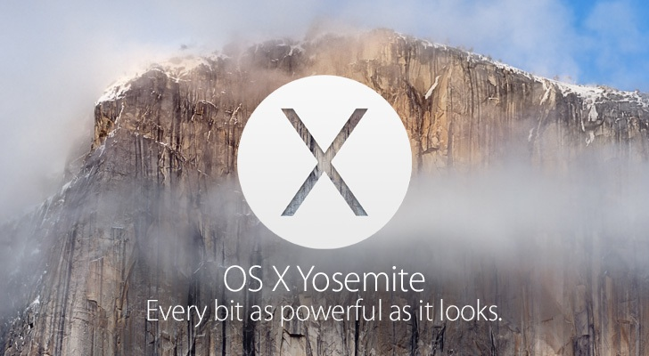 Apple's logo for the new update, OS X Yosemite.  The update came out on October 21, 2014 around 3:20 p.m.