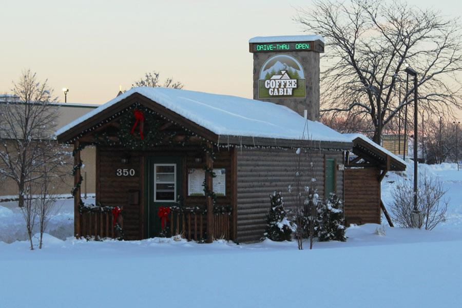 Coffee Cabin is conveniently located on Route 30 in Schererville.  The business had a welcoming cabin atmosphere.