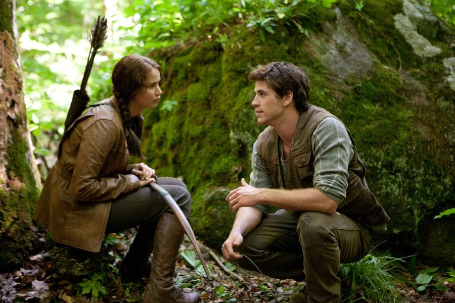 Jennifer+Lawrence+and+Liam+Hemsworth+play+Katniss+Everdeen+and+Gale+Hawthorne+in+the+Hunger+Games.+Hunger+Games%2C+like+many+other+books%2C+has+been+turned+into+a+movie.+