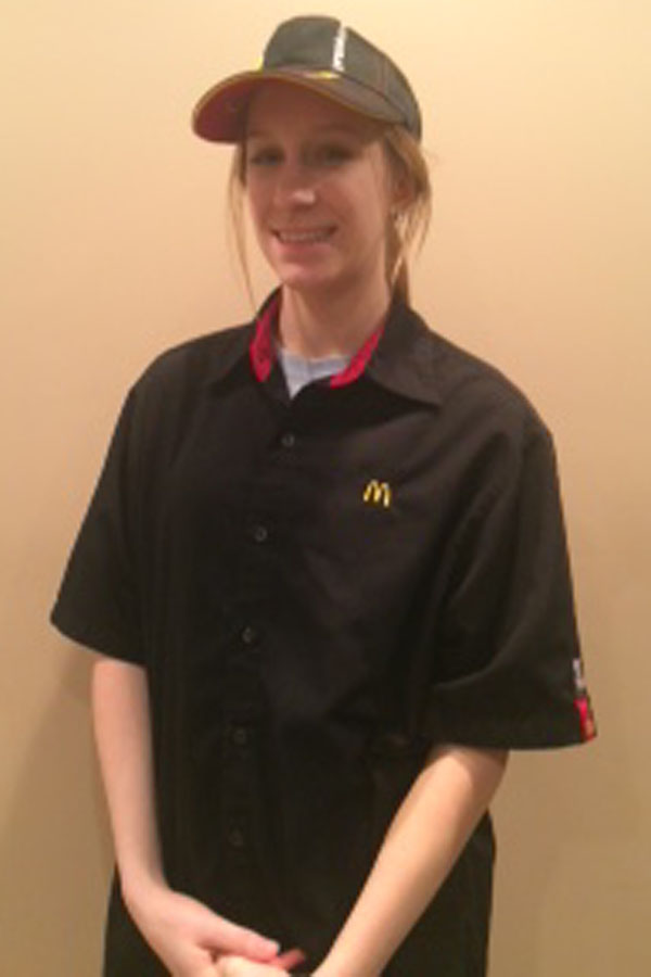 Chelsie+Spiegel+%2811%29+works+at+the+recently+opened+McDonald%E2%80%99s+in+St.John.++Chelsie+has+been+employed+at+McDonalds+for+seven+months.