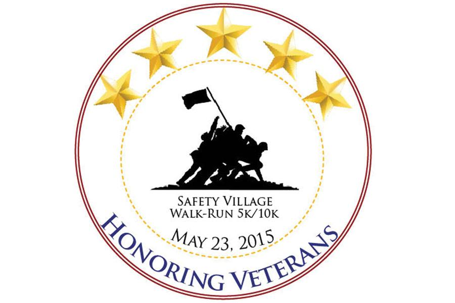 "This is the official logo for the ""Honoring Veterans"" 5K/10K Walk/Run, which will take place at the Tri-Town Safety Village on May 23. This was designed by Jovana Dodevska (11), one of the presidents of the History Club, for the event."