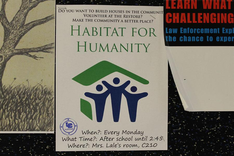 Habitat for Humanity is a club that focuses on helping the community. This idea for this club was started by one of Mrs. Lale's students.