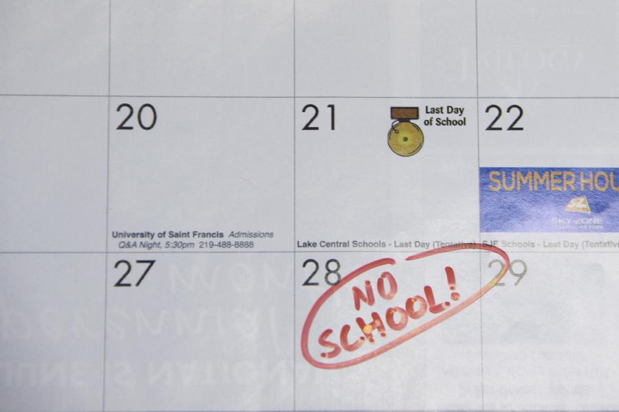 The last day of school and final testing are on May 27. Students have marked their calendars to count down the days.