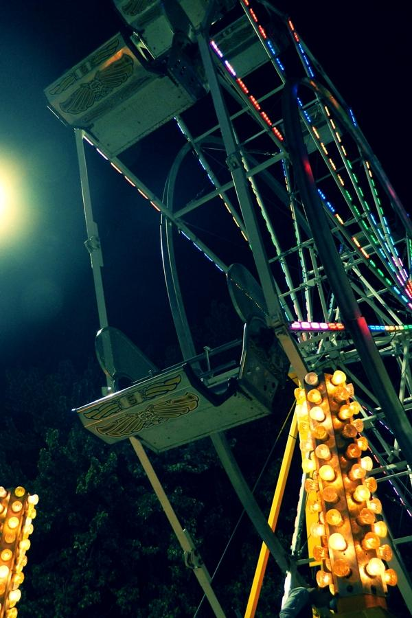 +The+ferris+wheel+seats+sit+empty.+This+classicl+amusement+ride+made+many+rotations+throughout+the+fest.+