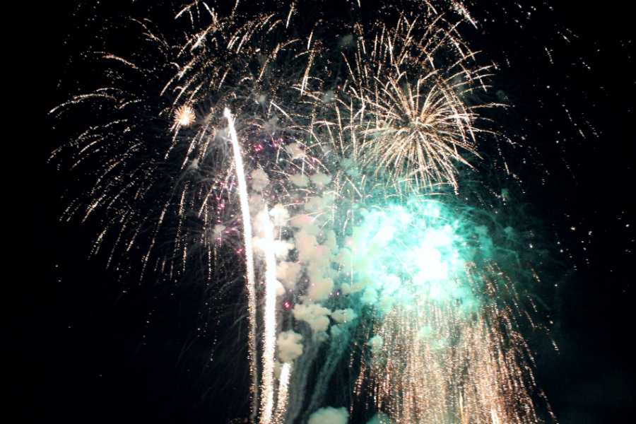 Colorful+fireworks+dance+through+the+sky+as+the+finale+unfolds.++This+year%E2%80%99s+firework+show+at+Rohrman+Park+was+as+successful+as+it+has+been+in+years+past.