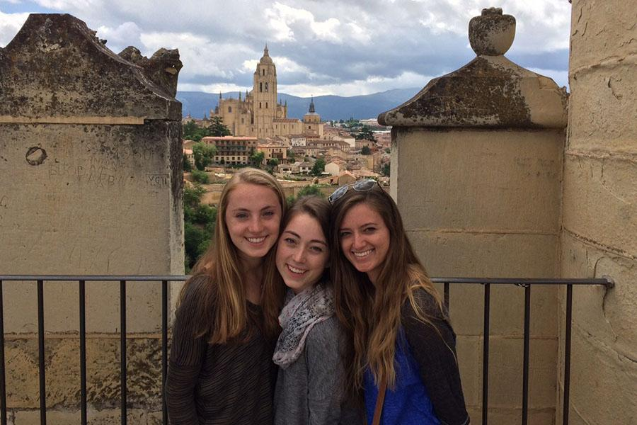 Lauren Granskog (12) is on an excursion with her study abroad group. Granskog was in Spain for two weeks  during the summer.