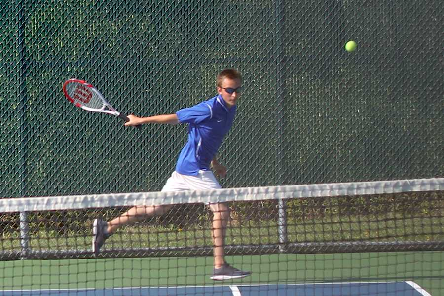 Jack Daniels (11) runs to get to the ball. Daniels played a strong match against Chesterton.