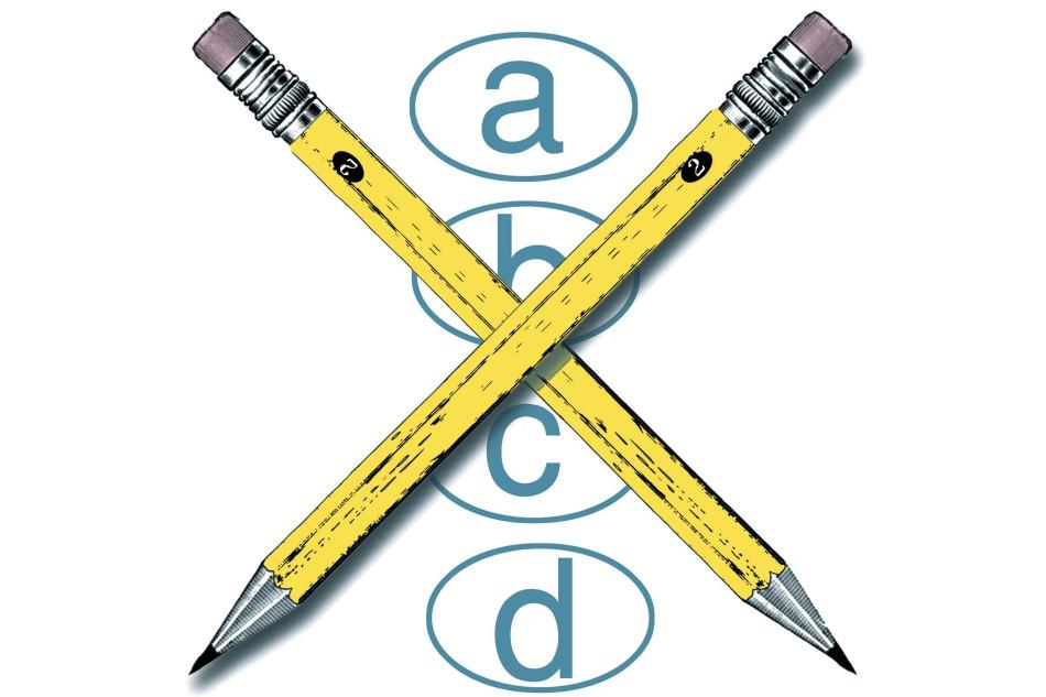 300 dpi Wes Bausmith illustration related to the SAT tests. (Los Angeles Times/MCT)