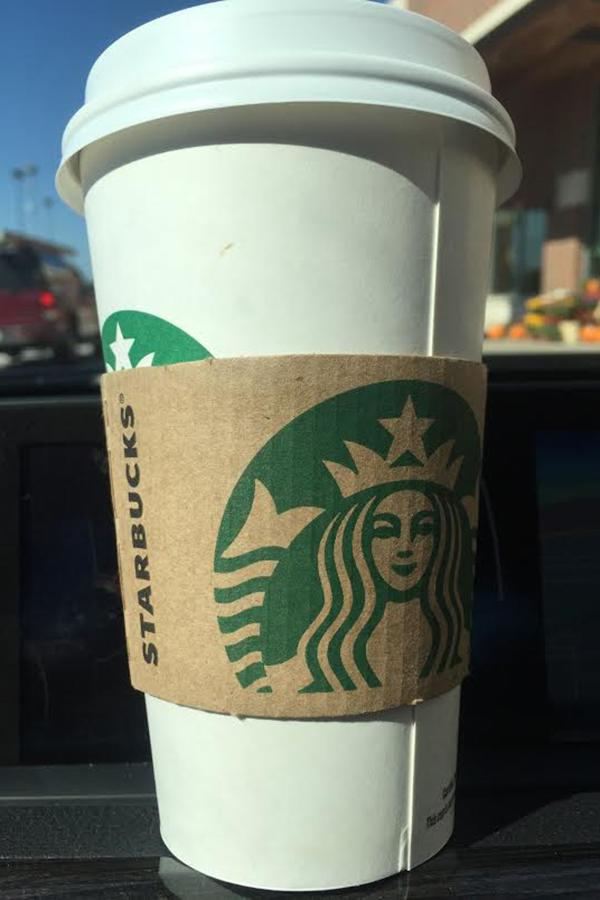 Here's a  freshly brewed cup of Starbucks Pumpkin Spice coffee. This was the first place that was judged for pumpkin spice coffee.