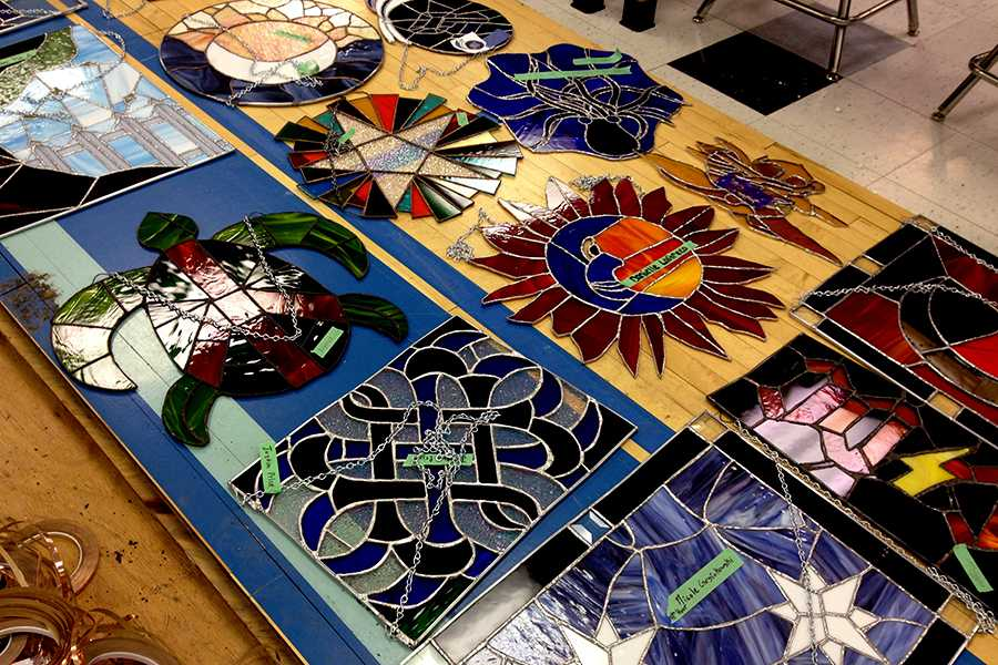Mr. Paul Volk, Art, encourages his students to sell their stained glass artwork using the website he has developed. Mr. Volk started the website as a way for artists at Lake Central to share and sell their work with the public.
