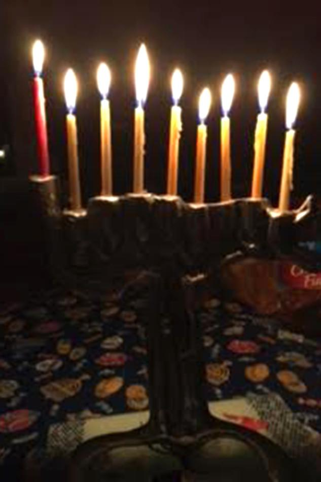 During Hanukkah, one candle of the menorah is lit per day, representing each evening of the holiday. Hanukkah ended on Dec. 13.
