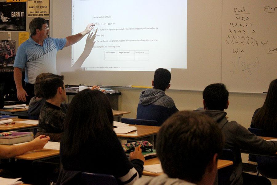 Mr. Joe Fox, Math, teaches an Algebra 2 Honors class. Mr. Fox has been teaching at LC for 31 years.