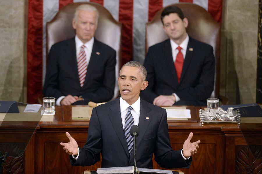 U.S.+President+Barack+Obama+delivers+his+final+State+of+the+Union+address+to+a+joint+session+of+Congress+at+the+Capitol+in+Washington%2C+D.C.%2C+on+Tuesday%2C+Jan.+12%2C+2016.+%28Used+with+Limited+License%3A+Olivier+Douliery%2FAbaca+Press%2FTNS%29