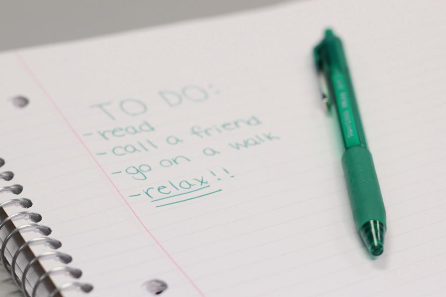 A to-do list includes activities people can do when staying home. It was written so people have ideas of what they can do if they are not going on a trip over spring break.