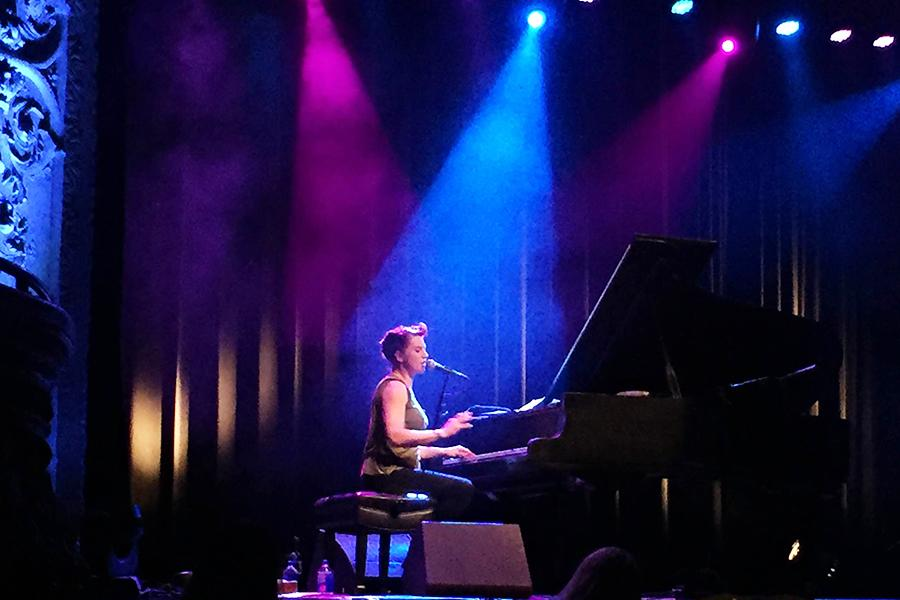 Amanda Palmer performed at Thalia Hall in Chicago on Nov. 13. Palmer's realness and personal interaction with the audience created a familiar and intimate environment. Photo by: Emily Badger
