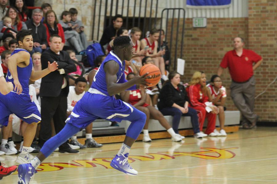 Rello Smith (12) steals the ball and drives to the basket and gets fouled. Lake Central could not hold onto the lead.