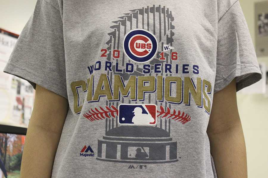 An+official+2016+World+Series+shirt+documents+the+Cub%E2%80%99s+win.+The+Chicago+Cubs+are+celebrating+their+first+World+Series+win+in+over+a+century.+