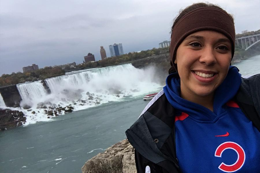 Munoz celebrates her birthday by visiting Niagara Falls. She hoped to go back one day in the near future.