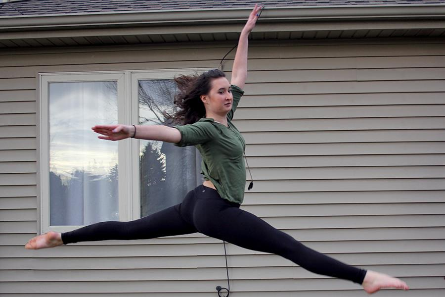 Madelyn Burke (10) does a leap. She has been dancing for 12 years.