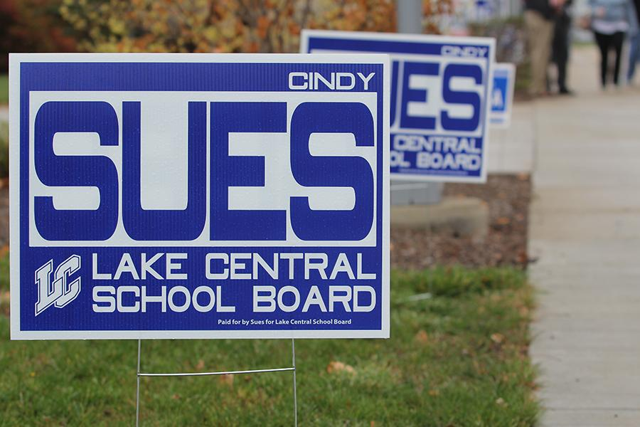 People+running+for+elections+put+up+signs+throughout+towns+in+hopes+of+getting+name+recognition+and+votes.+For+a+new+school+board+member%2C+such+as+Cynthia+Sues%2C+name+recognition+is+key.
