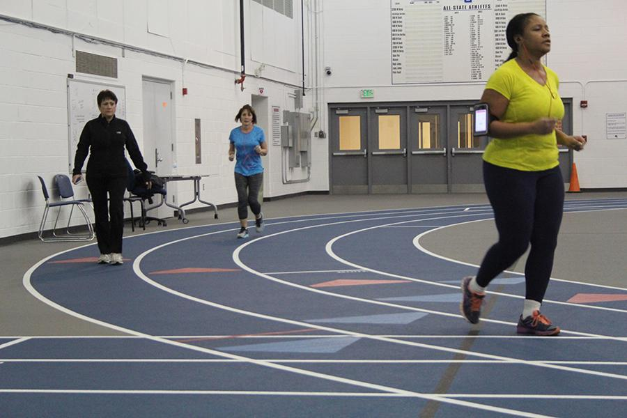 The walker's pace around the Fieldhouse. The walking event ended March 23.
