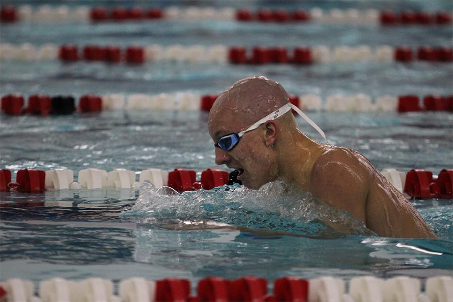 Jack+Tinsley+%2810%29+swims+the+200+IM.+The+meet+took+place+on+Feb.+18.