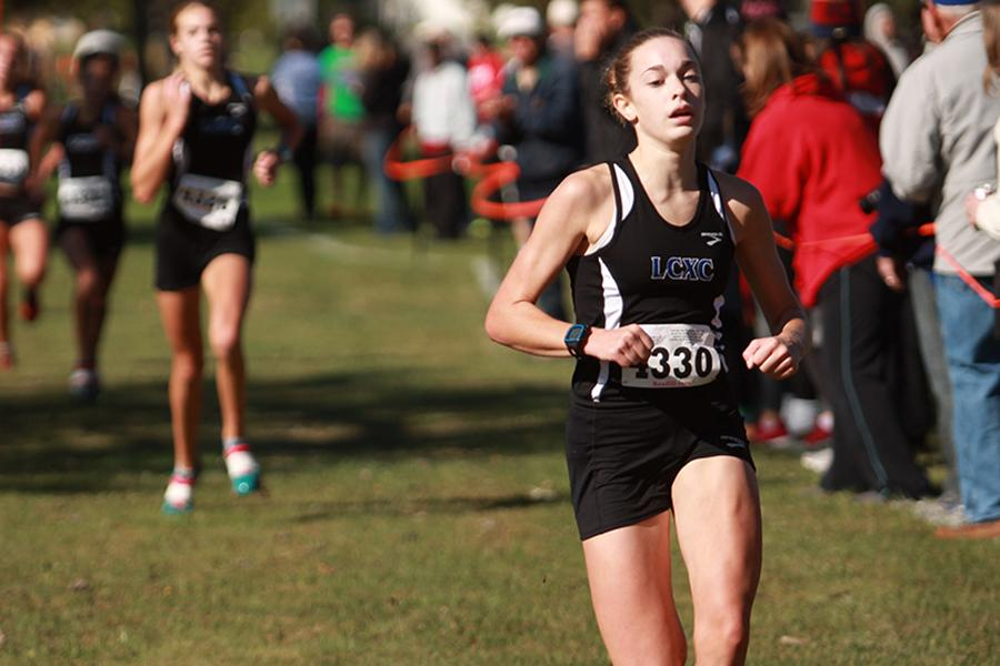 Zubeck+crosses+the+finish+line+at+the+State+meet.+She+has+been+running+for+five+years+and+plans+on+continuing+to+run+throughout+the+rest+of+her+high+school+career.++Photo+by%3A+Camryn+Wallace+%2812%29%0A