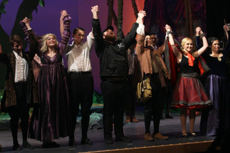Lake Central Theatre Company's seniors take a final bow at the end of their performance. Senior Night was on Thursday, March 16, and kicked off their final weekend of performances.