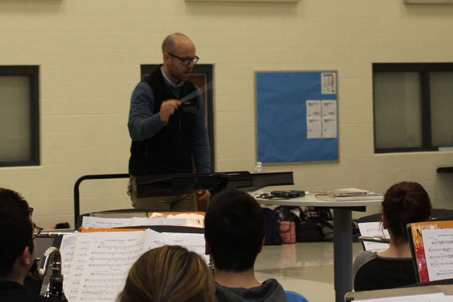 Mr.+Elliott+Smith%2C+Music%2C+conducts+the+class.+This+was+Mr.+Smith%27s+first+year+at+Lake+Central.+