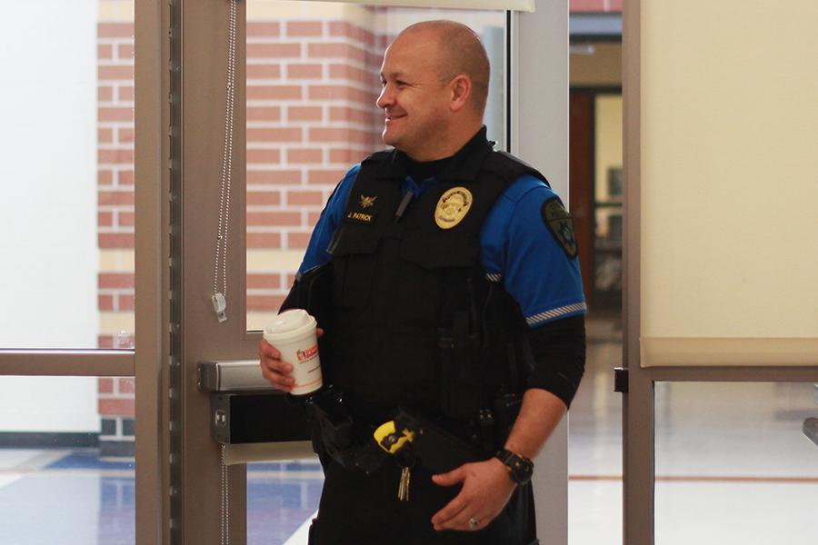 Officer+Jerry+Patrick+smiles+as+he+walks+through+the+door.+The+breakfast+was+offered+to++Dyer%2C+Schererville+and+St.+John+police+chiefs%2C+fire+chiefs%2C+principals%2C+vice+principals+and+deans.%0A