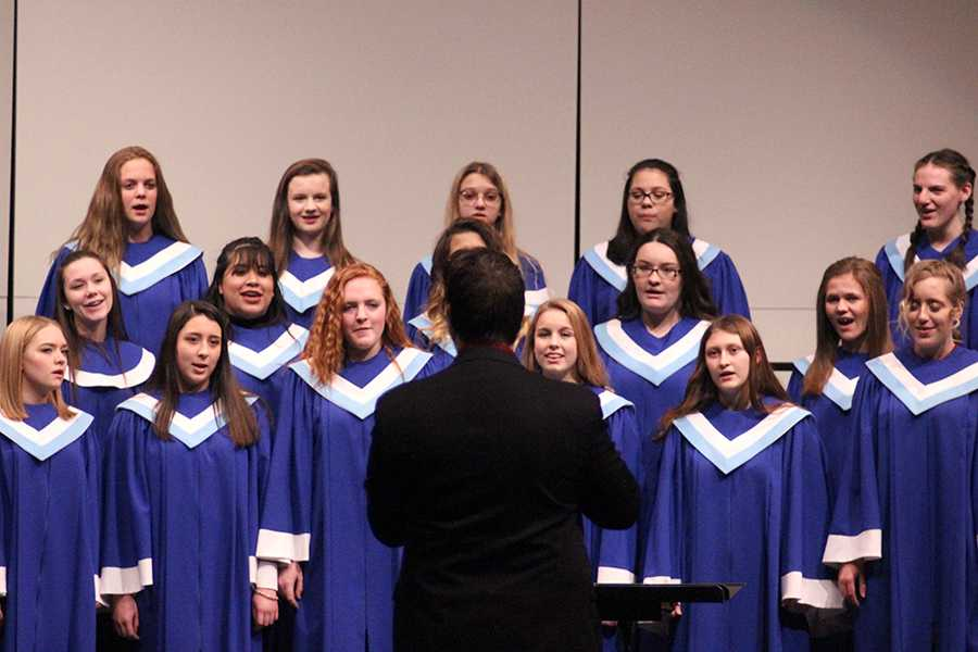 "The Junior Treble Choir perform ""Jingle Bell Rock,"" ""We Are Lights"" and ""We Need a Little Christmas."" The Junior Treble Choir performed after the Da Capo's second performance."