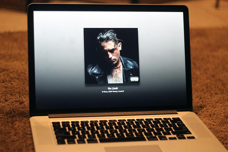 "G-Eazy's album ""The Beautiful & Damned"" plays on a computer. The album was released on Dec. 15."