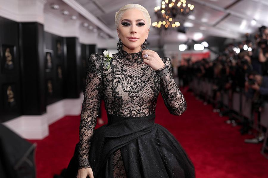 Lady+Gaga+stands+on+the+red+carpet.+The+Grammy+Awards+were+held+Sunday%2C+Jan.+29.+Image+Source%3A+Getty