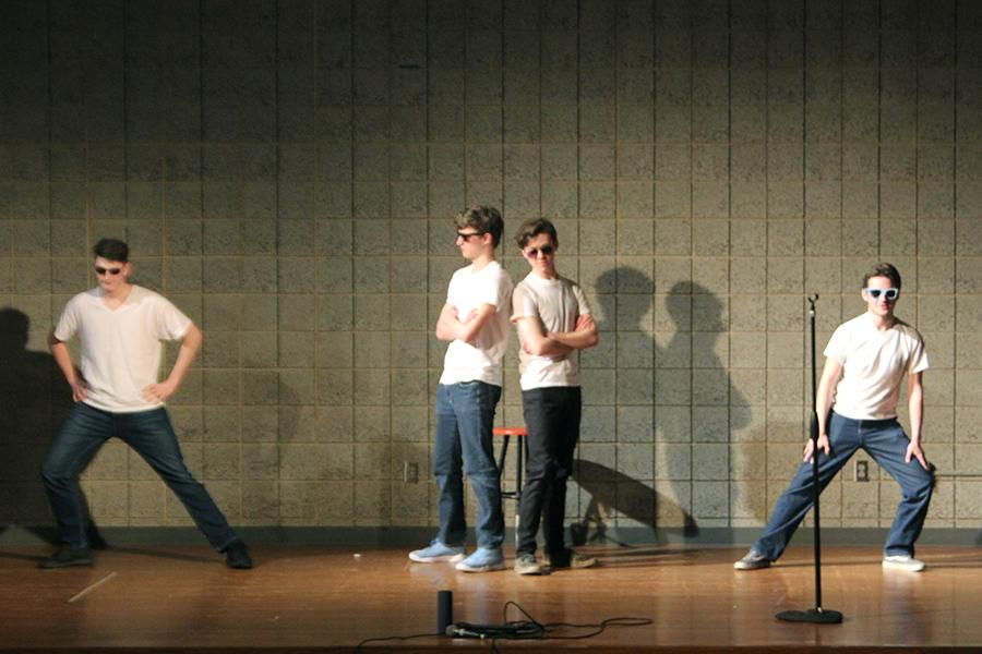 "Joseph Jakubowicz (12), Ian Blaze (12), Dylan Foster (12) and Michael Harmon (12) performed their act called ""Dancing Through the Ages."" The boys had a lot of fans after their performance, but did not win the talent show."