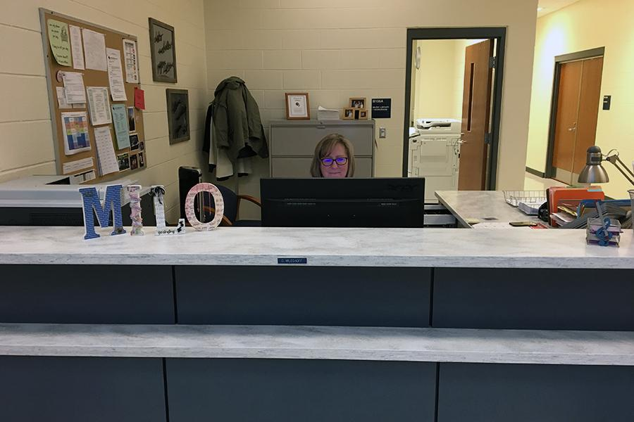 Mrs. Denise Miloshoff, Music Secretary, works hard on managing the music halls. Mrs. Miloshoff has worked at Lake Central for 20 years.