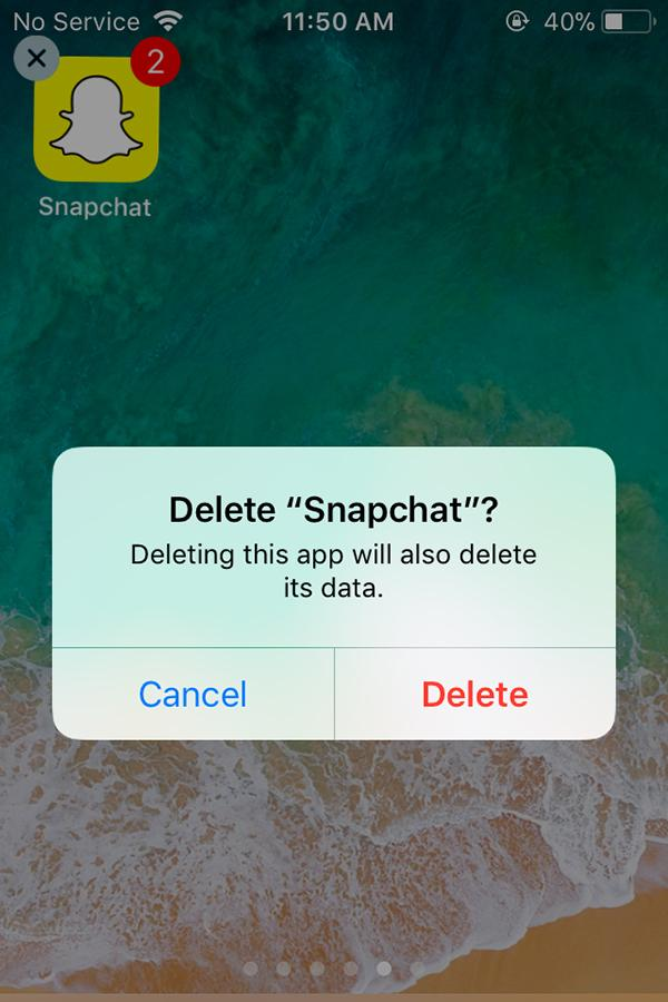 This is the snapchat icon right before it was deleted. I deleted a total of 5 social media apps since the start of 2018.
