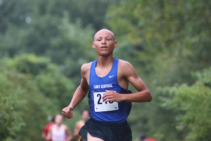 Isaac+Beatty+is+a+varsity+runner+for+Lake+Central.+He+has+been+a+part+of+the+team+since+his+freshman+year.