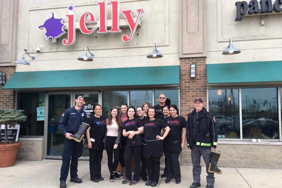 Angeliki Pyrros (11) works at Jelly Pancake House in Dyer, IN. She started out as a hostess and now is a server, for her family owned restaurant.