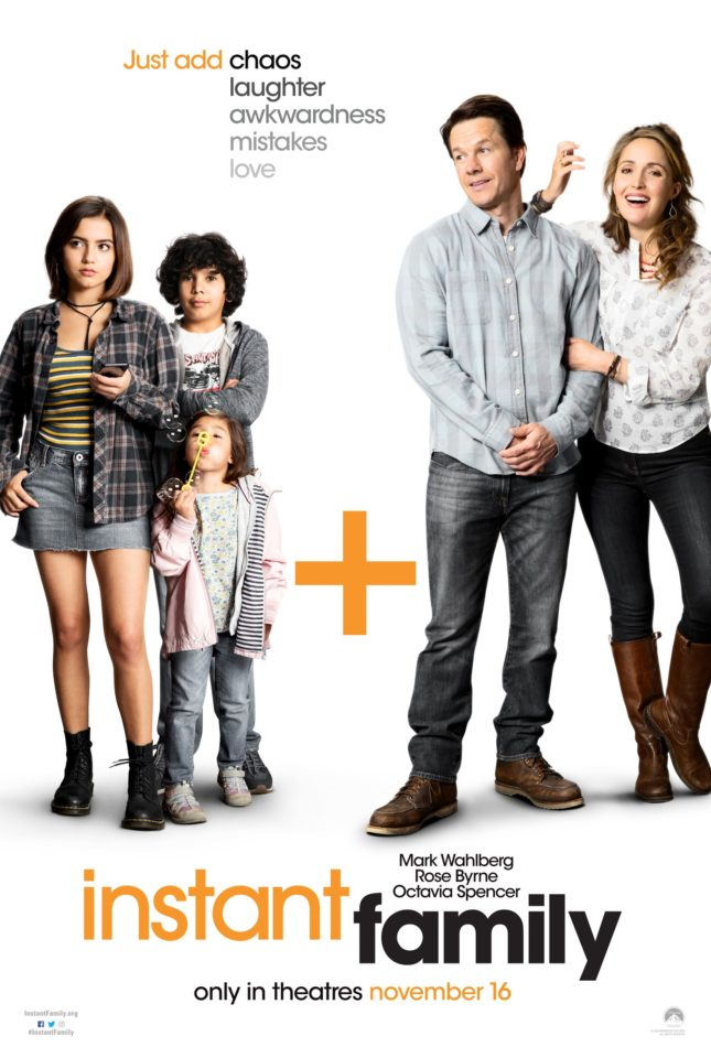 Instant Family is a movie that touches on the adoption of three children and how it changed the life of a couple. This film was directed by Sean Anders. Image source: Google